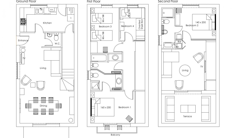 Casa Garcia Floorplans-Floor Plans Web